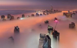 Dubai-UAE-skyscrapers-fog-clouds-morning_1920x1200
