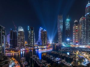 UAE-Dubai-night-skyscrapers-lights-boats-river_1920x1440